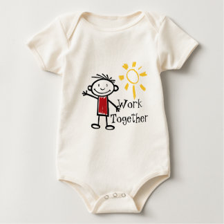 Work Together Baby Bodysuit
