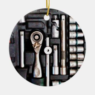 Work Toolbox - Industrial Print Ceramic Ornament