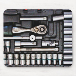 Work Toolbox - Industrial Print Mouse Pad