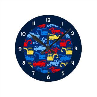 Work trucks round clock