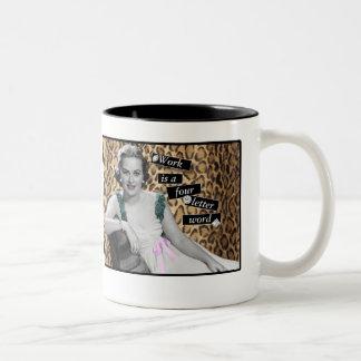 Work! Two-Tone Coffee Mug