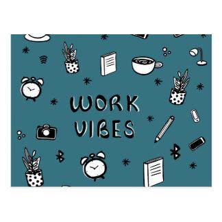 WORK VIBES POSTCARD