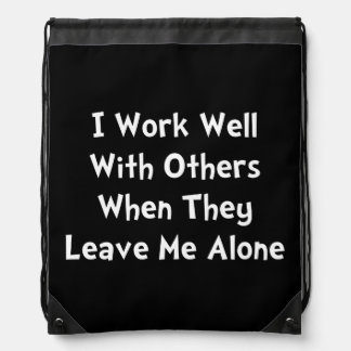 Work Well Drawstring Bag