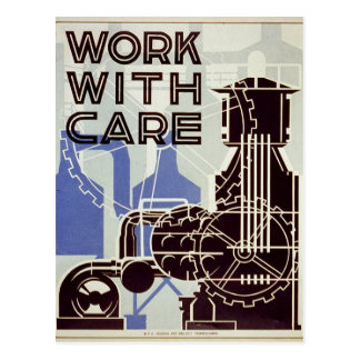 Work With Care - 1936 Post Cards
