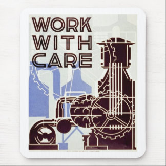 Work With Care Mouse Pad