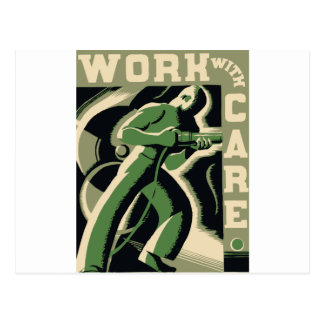 Work With Care Postcard