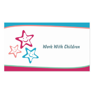 Work With Children Business Card