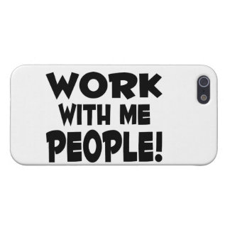 Work With Me People Team Work Case For iPhone SE/5/5s