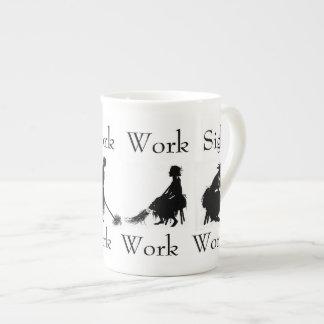 Work Work Work Sigh Bone China Mug