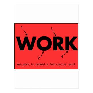 work work work work postcard