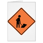 Work Zone Highway Construction Sign Cards