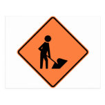 Work Zone Highway Construction Sign Postcard