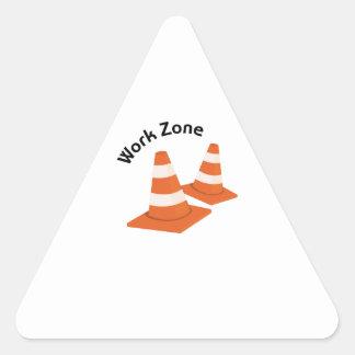 Work Zone Triangle Sticker