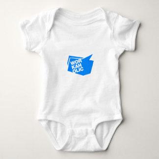 workaholic - blue baby bodysuit