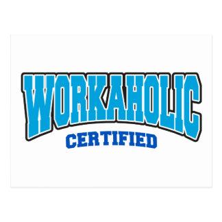 Workaholic certificado postales