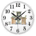 Workaholic night owl wall clocks