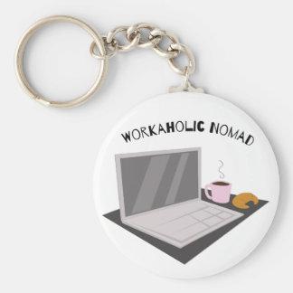 Workaholic Nomad Basic Round Button Keychain