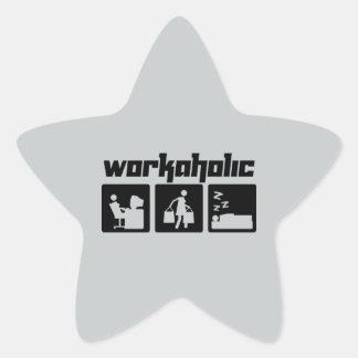 Workaholic Star Sticker