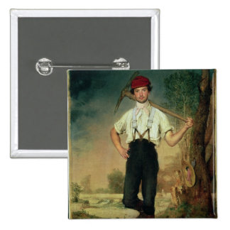 Worker, 1848 2 inch square button