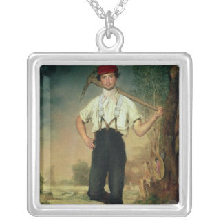 Worker, 1848 silver plated necklace