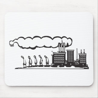Worker and Factory Mouse Pad