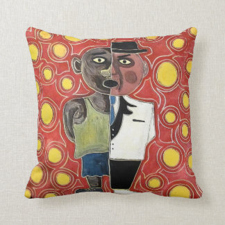 Worker and manager by rafi talby throw pillow