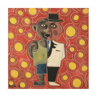 Worker and manager by rafi talby wood print