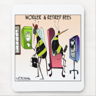 Worker and Retired Bee Mouse Pad