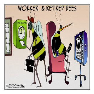Worker and Retired Bee Poster