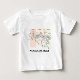 Worker Ant Inside (Ant Anatomy) Baby T-Shirt