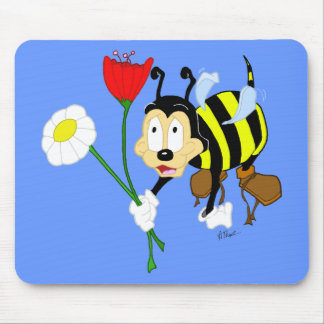 Worker Bee and Flower Mousepad