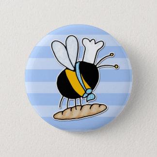 worker bee - baker button