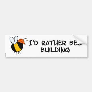 worker bee - builder bumper sticker