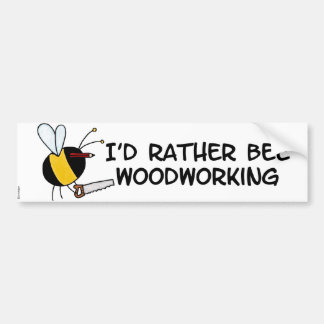 worker bee - carpenter bumper sticker