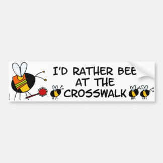 worker bee - crossing guard bumper sticker