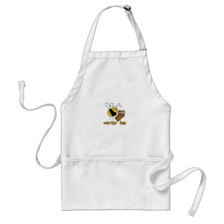 worker bee - librarian adult apron