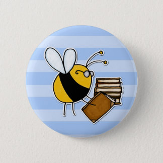worker bee - librarian button