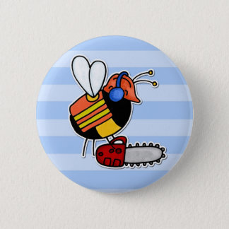 worker bee - lumberjack pinback button