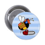 worker bee - lumberjack pinback button