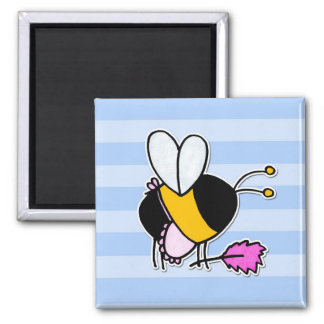 worker bee - maid 2 inch square magnet