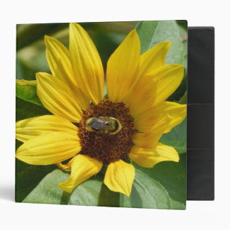 Worker Bee on Sunflower Binder