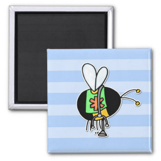 worker bee - paramedic 2 inch square magnet