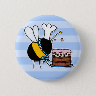 worker bee - pastry chef button