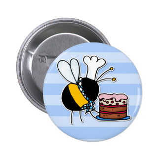 worker bee - pastry chef pinback button