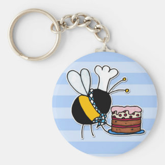 worker bee - pastry chef keychain