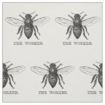 Worker Bee Pen and Ink Illustration Fabric