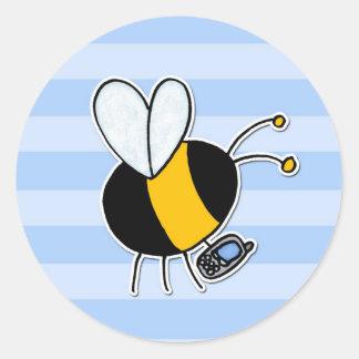 worker bee - phone sales classic round sticker