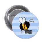 worker bee - photographer button