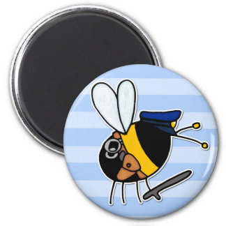 worker bee - police officer magnets