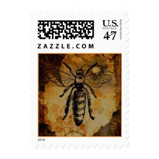 Worker Bee Postage Stamp